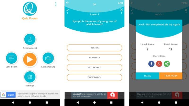 Quiz Power Android Quiz App Template