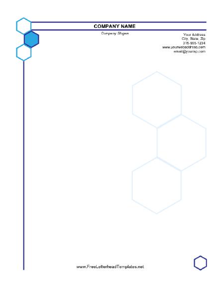 Business Letterhead Hexagon Design
