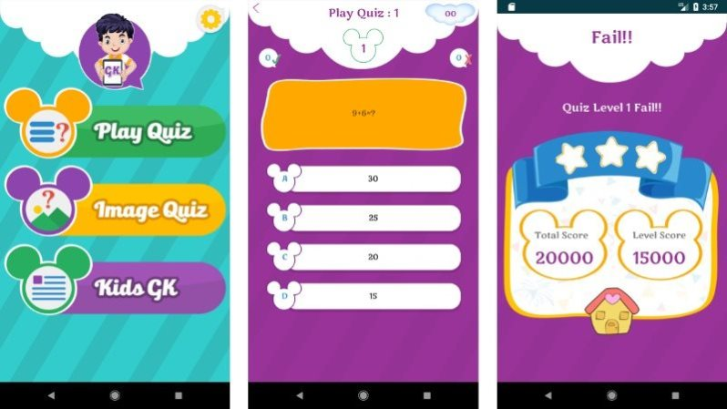 Kids Quiz App Android Template