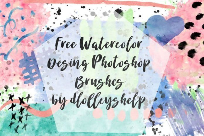 Free Watercolor Design Photoshop Brushes