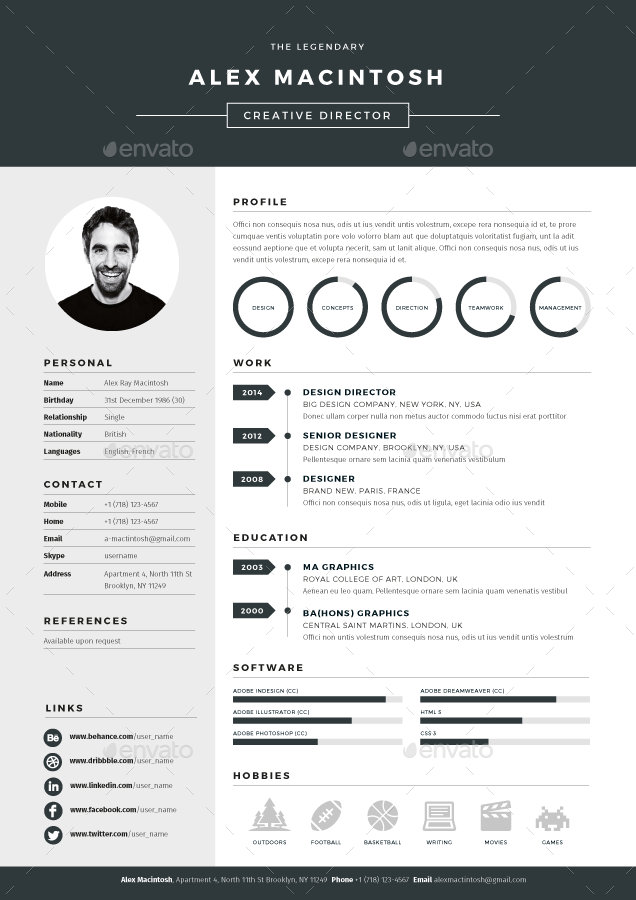 Mono Resume Dynamic and Professional Resume Template