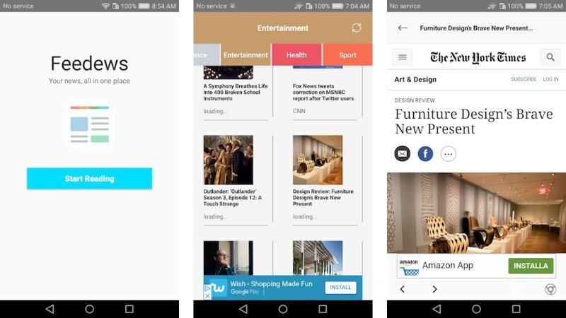 Feedews Android Universal RSS News App Template