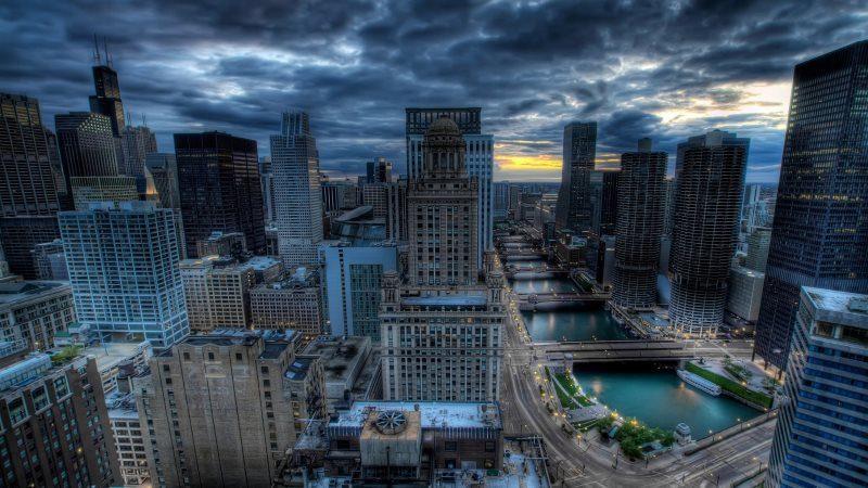 Urban City Chicago Building Architecture