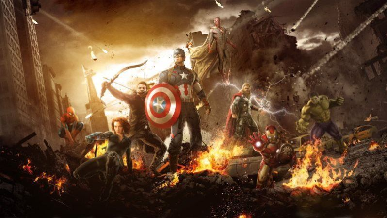 Avengers Fighting HD Wallpaper