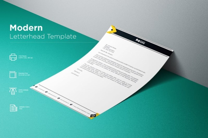 Modern Geometrical Letterhead Template