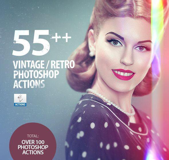 Vintage Retro Effects Photoshop Actions