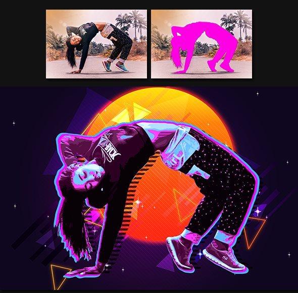 Retro Poster Photoshop Action