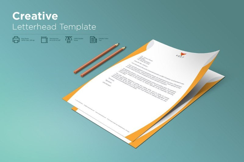 Rusty Orange Creative Letterhead