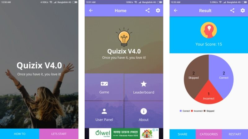 15 Quiz and Trivia App Templates for Android