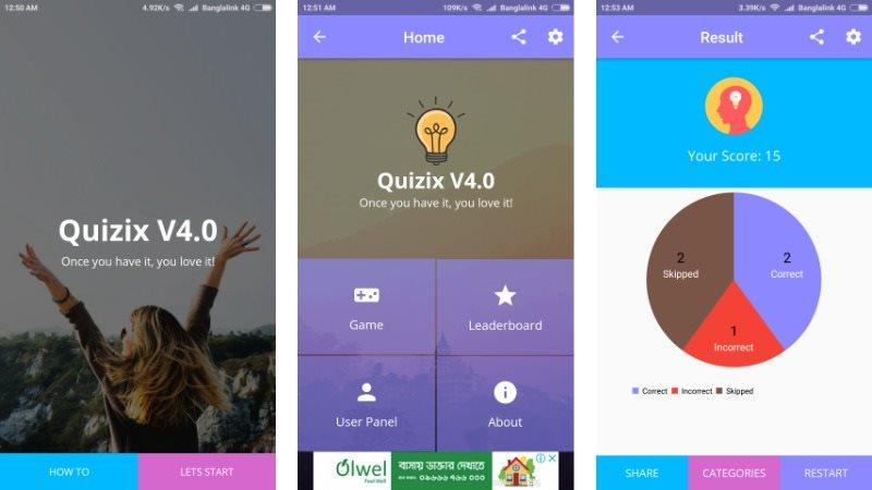 Quizix Android Quiz App