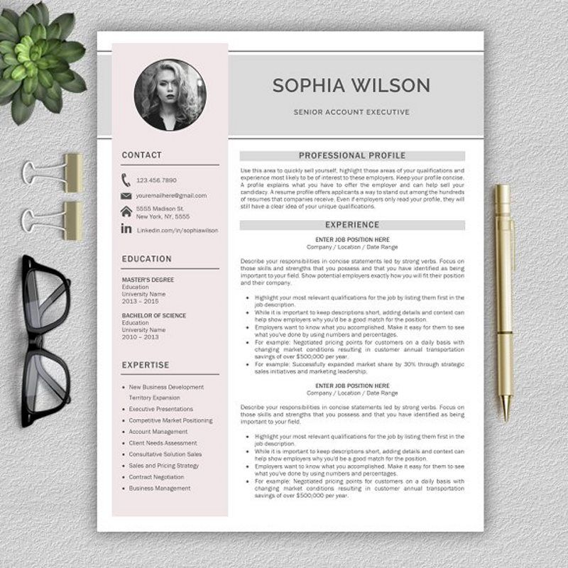 Creative Resume Template with US Letter and A4 Size
