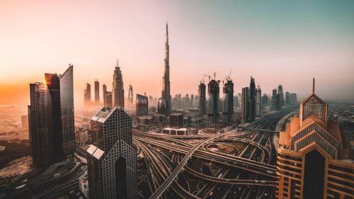 Dubai Burj Khalifa Sunset View