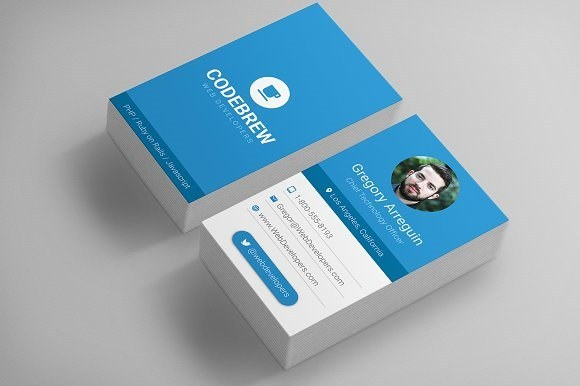 Material Design Business Card Template