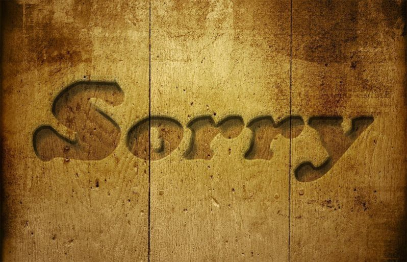 Sorry Wooden Background Image