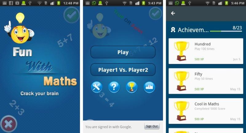 Maths Fun Mathematical Game App Template