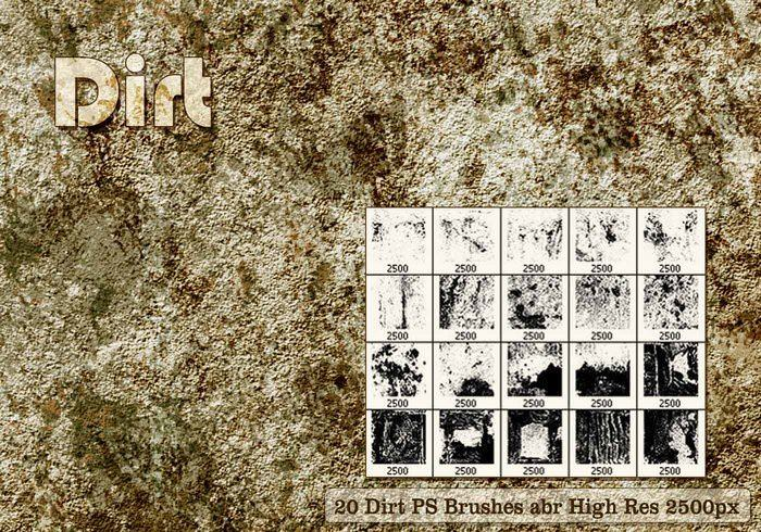 Dirt PS Brushes Abr Vol-1