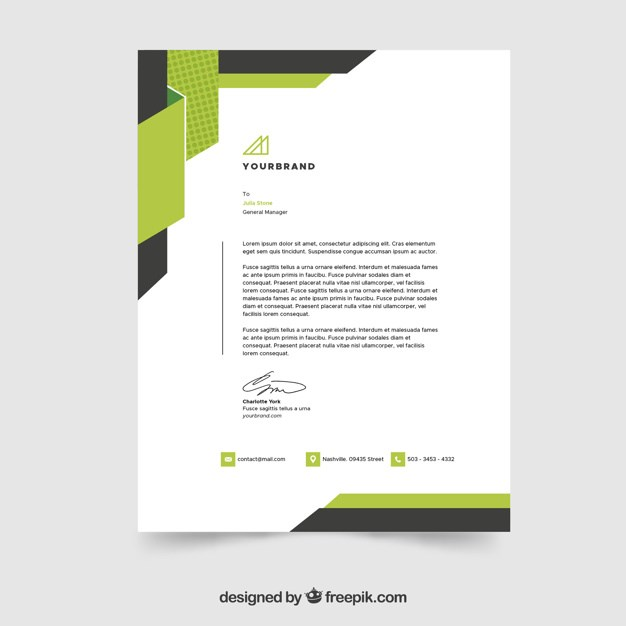 30 creative business letterhead templates ms word psd ai tech creative letterhead template in flat style spiritdancerdesigns Image collections