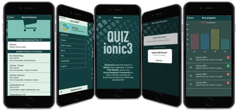 Quizionic3 Android ISo Quiz App Template