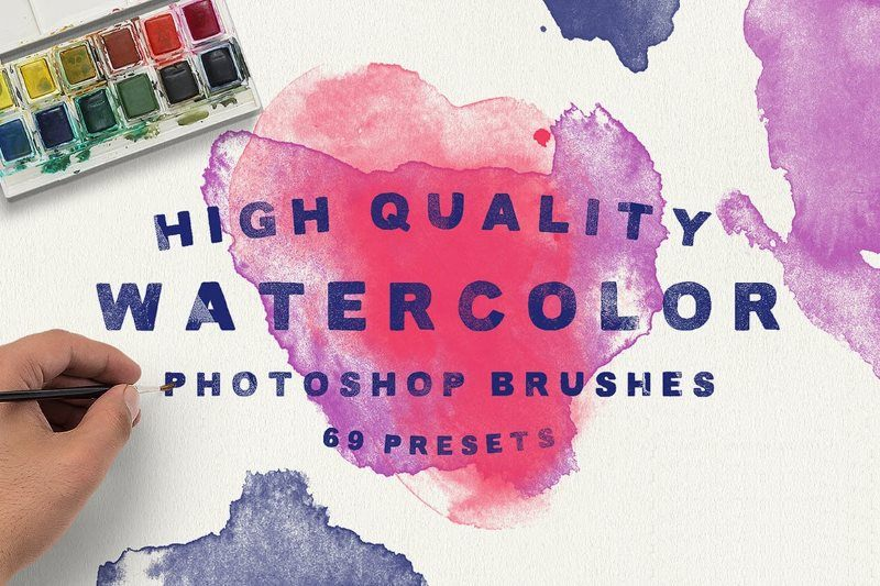30+ Sets of Watercolor Photoshop Brushes