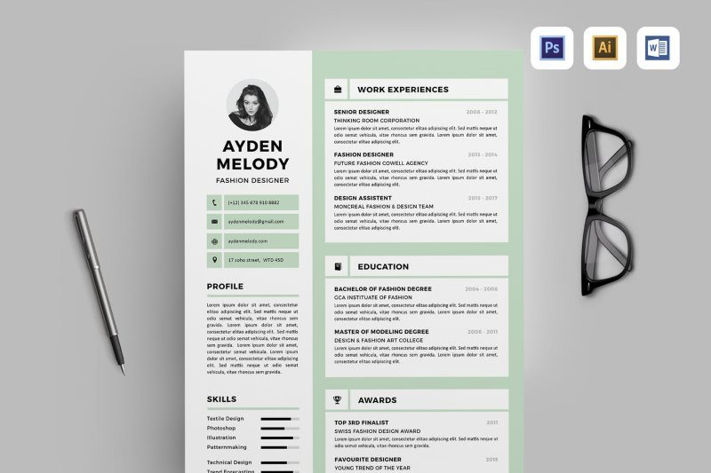 21 creative resume templates ms word