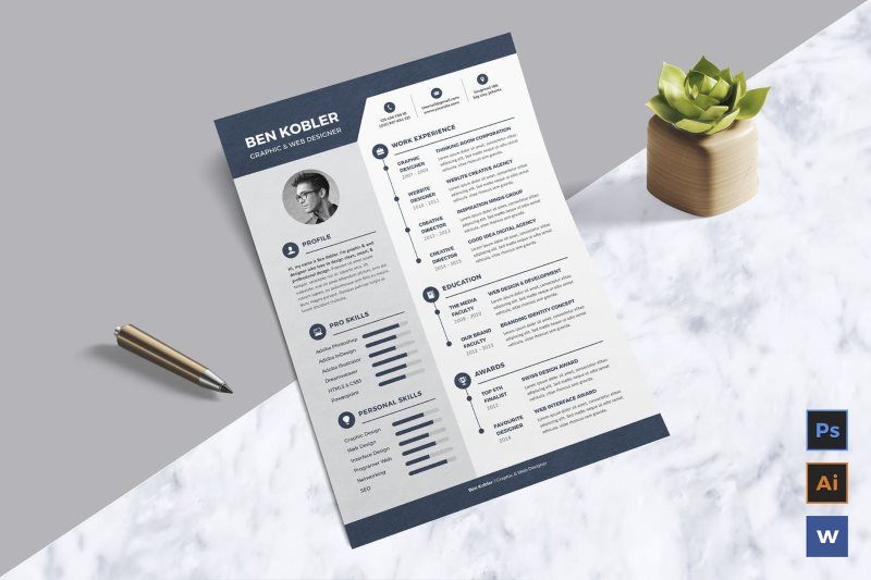Creative and Clean Resume CV Template