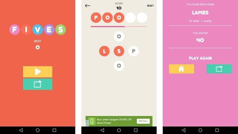 Fives Android Universal Word Game Template