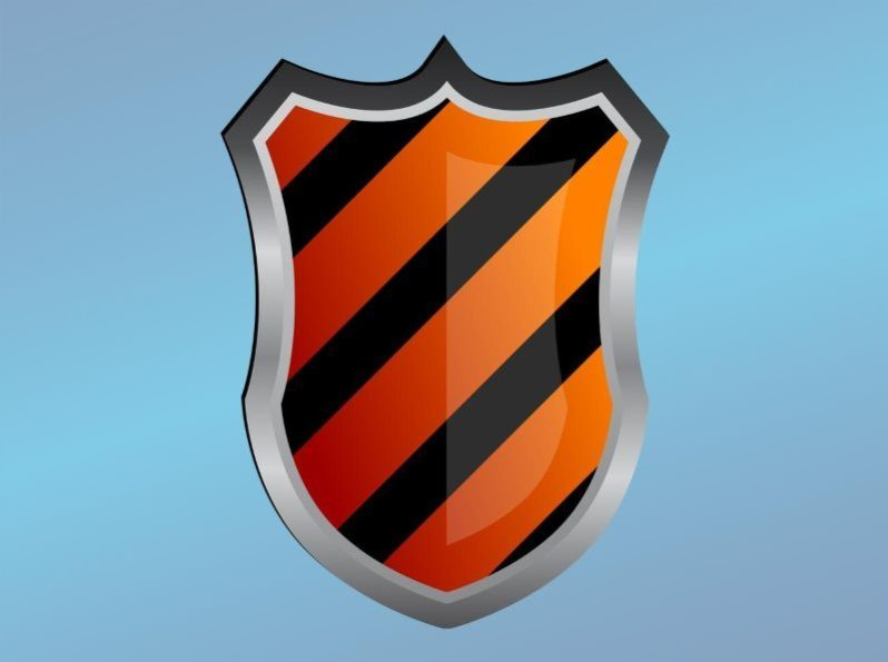 Striped Shield Logo Vector