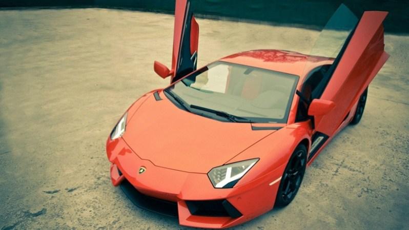 Lamborghini Red Car HD Wallpaper