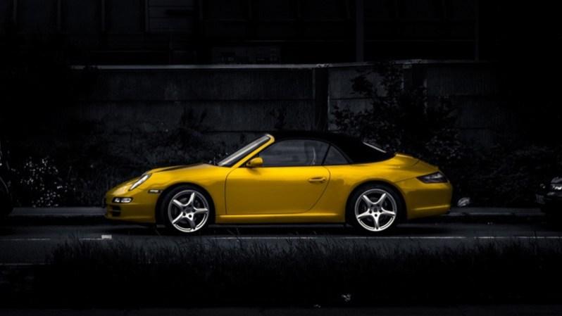 Yellow Stylish Car HD Wallpaper