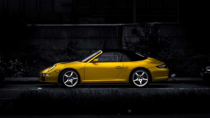 Yellow Stylish Car HD Wallpaper