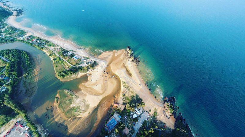 Beach Aerial View Wallpaper