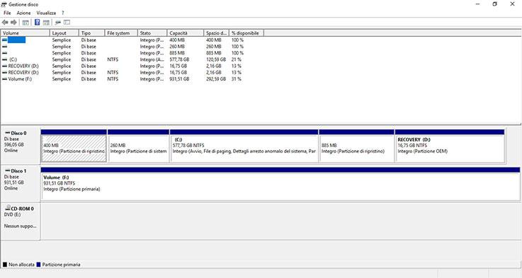 Come gestire le partizioni con Windows 10 1
