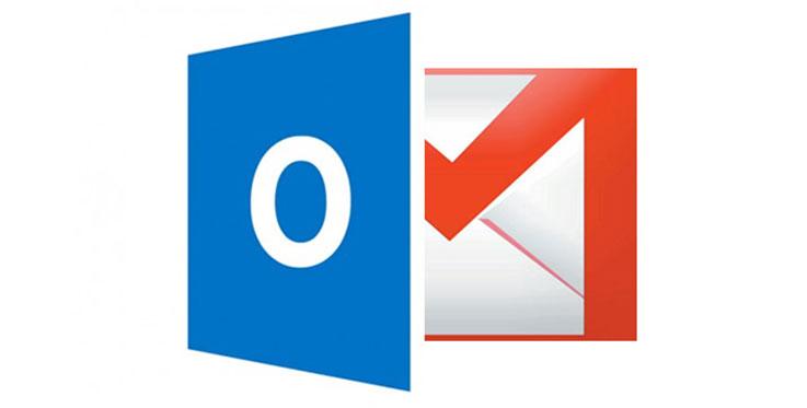 Logo Gmail e Outlook