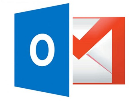 Logo Gmail e Outlook