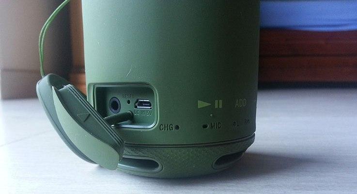 Sony SRS-XB10: ricarica USB