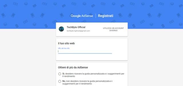 Registrazione ad AdSense