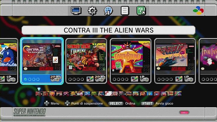 Recensione del Nintendo Mini SNES: l'interfaccia