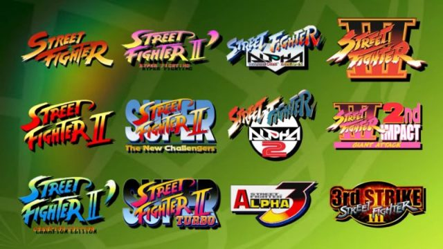 Titoli presenti in Street Fighter 30th Anniversary Edition