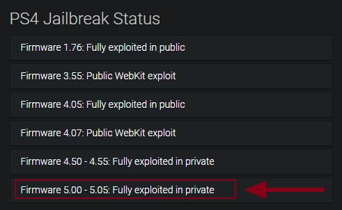 Lista exploit PS4