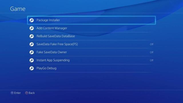 Package Installer su PS4