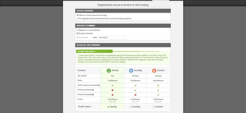 Trasferimento sito su SiteGround