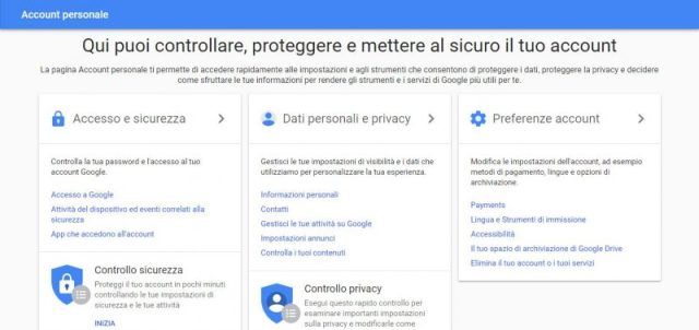 Account personale Gmail