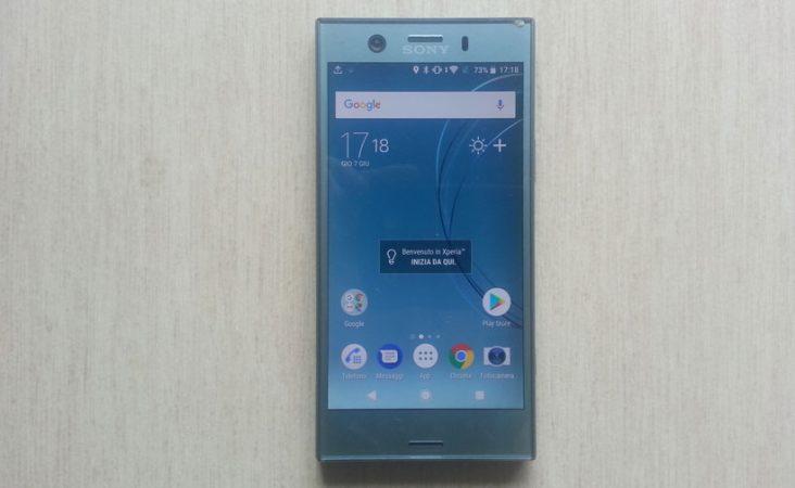 Sony Xperia XZ1 Compact: fronte