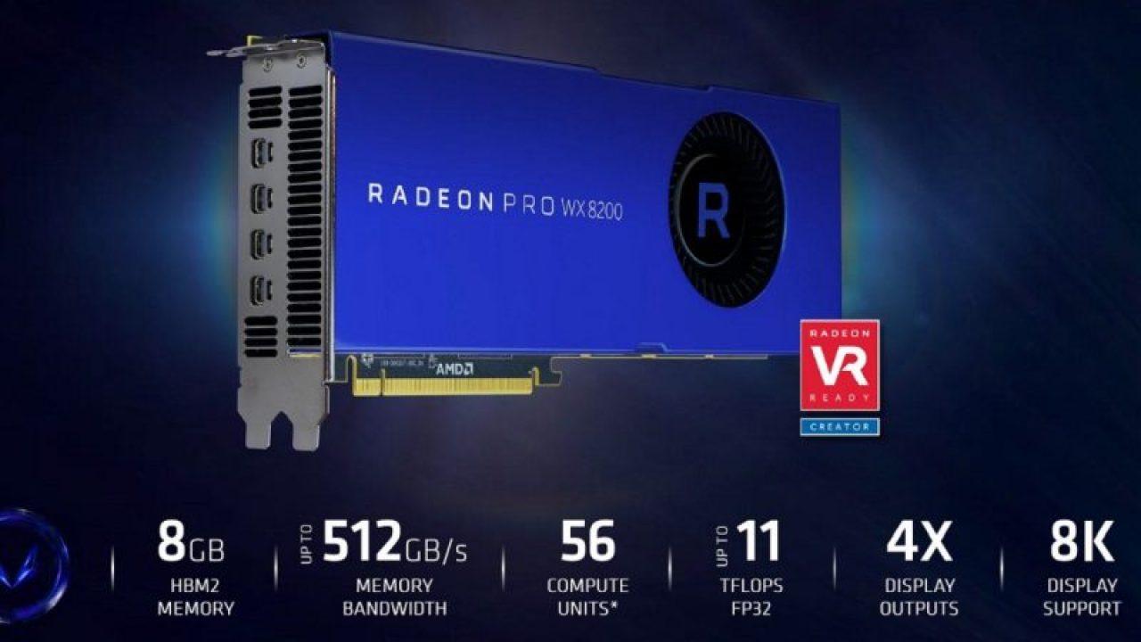 Specifiche Radeon Pro WX 8200
