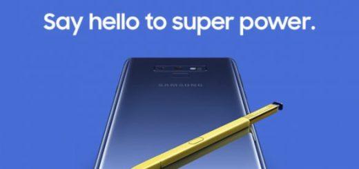Design del Samsung Galaxy Note 9
