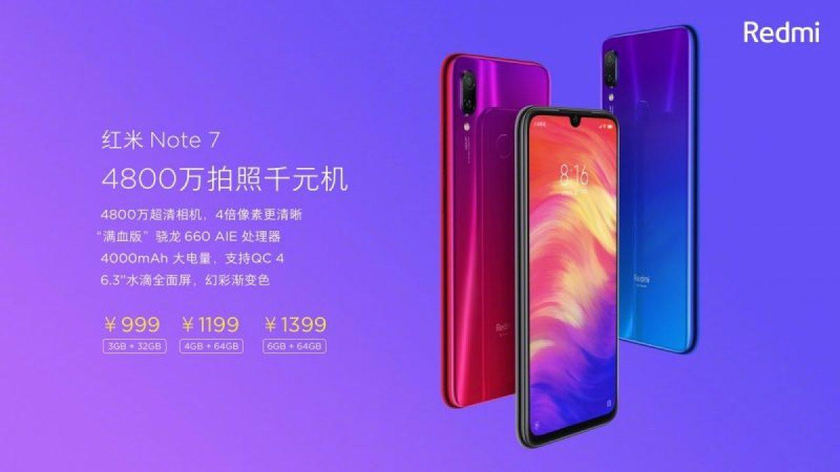 Annunciati ufficialmente Xiaomi Redmi Note 7 e Note 7 Pro 1