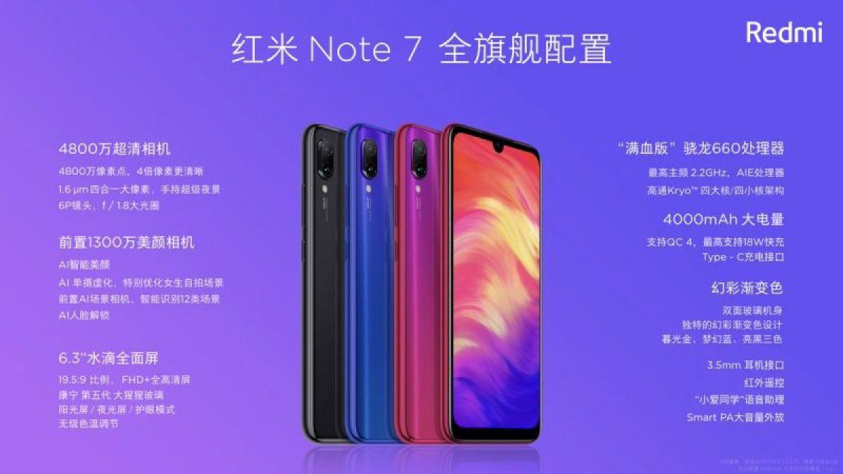 Redmi Note 7 Specifiche