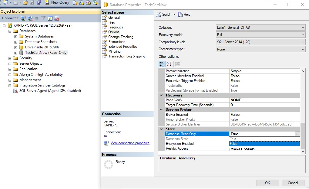 how to give read and write permission in sql server 2008