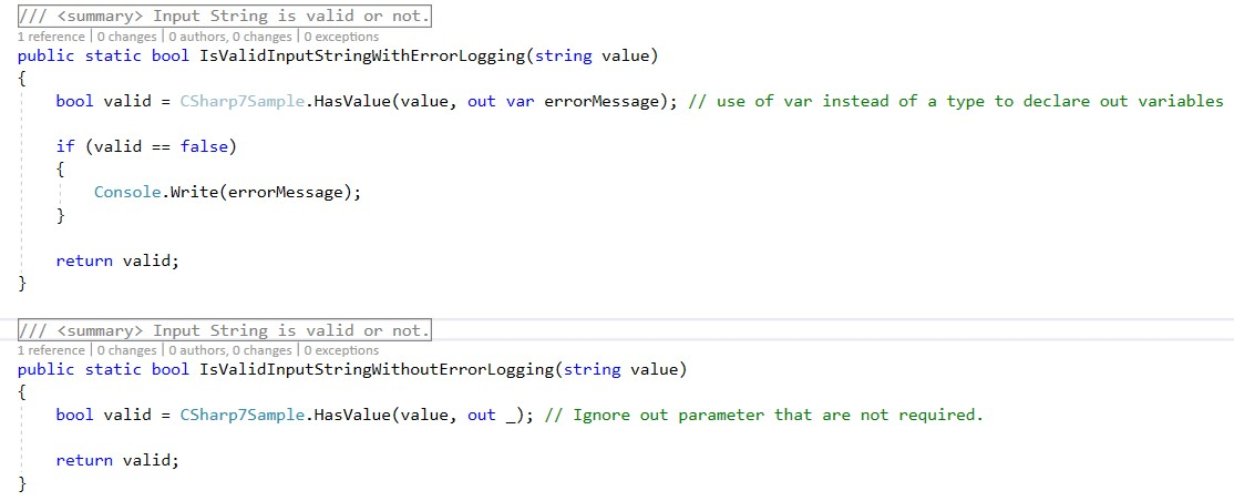 Visual Studio Reactjs Typescript: New C Sharp 7 Features In Action: Out Variables To Make