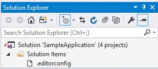 editorconfig VS 2017 - add to solution